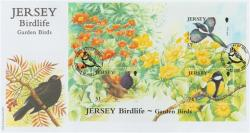 2007 Jersey Bird Life 3 x stamps MS