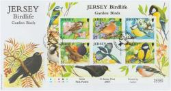 2007 Jersey Bird Life 6 x stamps MS