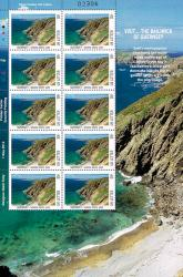 2012 Local Large Europa Visit Guernsey Stamp Sheet