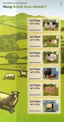 2012 Post & Go Sheep Farm Annimals 1st issue pack  (P&G 6)