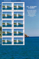 2012 UK Large Europa Visit Guernsey Stamp Sheet
