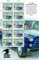 2013 International 40g Europa Post Office Vehicles Stamp Sheet