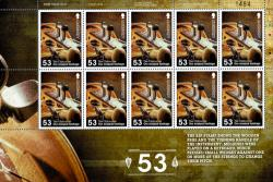 2014 53p Europa National Musical Instruments The Chifournie Stamp Sheet