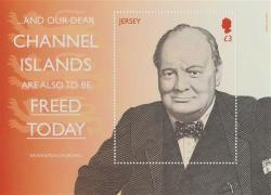 2015 Winston Churchill & Liberation 1st Issue £3 MS