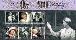 2016 Queen's 90th Birthday Pack containing Miniature Sheet