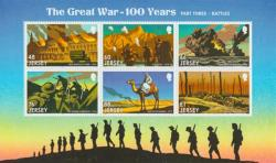 2016 World War 1 Battles 6 x stamps MS