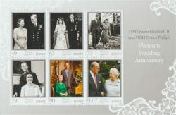 2017 70th Wedding Anniversary 6 x stamps MS