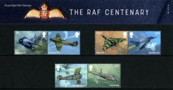 2018 RAF Centenary Pack containing Miniature Sheet