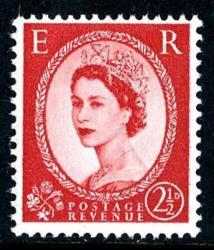 SG 574f 2½d type1 red