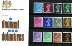 1971 ½p to 9p Pack No.26