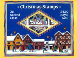 LXSOP1 Christmas 1986 folder with a sheet of 36 SG1342eu 13p underprints