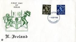 Northern Ireland 1968 4th September  4d,5d Londonderry CDS