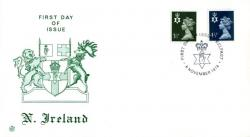 Northern Ireland 1974 6th November 3½p.4&12;p Belfast CDS