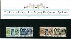 1986 Queen's Birthday pack
