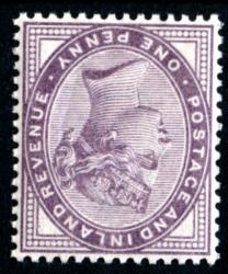 SG172wi  1880  1d lilac 16 dots watermark inverted