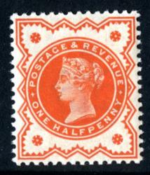 SG197e   ½d orange vermillion 1887 Jubilee