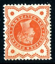 SG197wi   ½d vermillion watermark inverted 1887 Jubilee