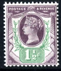 SG198   1½d purple & green 1887 Jubilee *