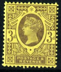 SG202   3d purple 1887 Jubilee *
