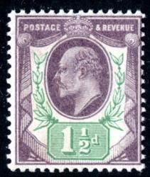 SG221  1½d dull purple & green
