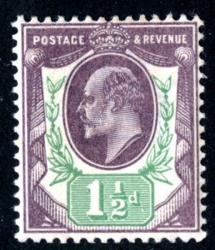 SG222  1½d slate purple & green