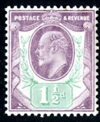 SG223  1½d pale dull purple & green  chalky