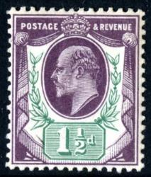 SG224  1½d slate dull purple & green chalky