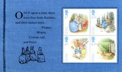 SG3864a 2016 Beatrix Potter 4 x rabbit stamps
