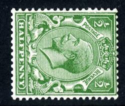 SG418a ½d green wmk sideways