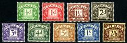 SG:D10-D18  1924 Set of 9 Postage  Dues