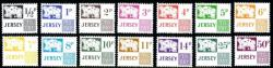 1971 Set of 14 Postage Due ½p to 50p (SG: D7 - D20)
