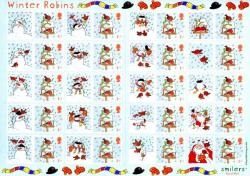 SG: LS14  2003 Christmas Winter Robins