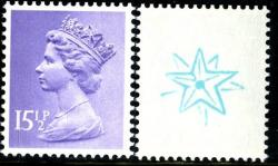 SG X907Eu 15½p double star (used with gum as print dissolves in water)