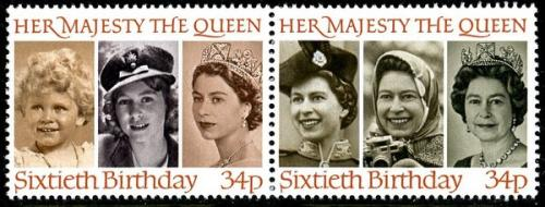 1986 Queen's 60th birthday 34p