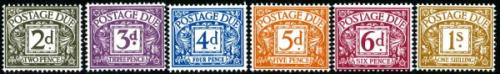 1968 Postage Due Set of 6 Typo (SG: D69-D74)