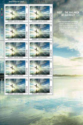 2012 Local Letter Europa Visit Guernsey Stamp Sheet