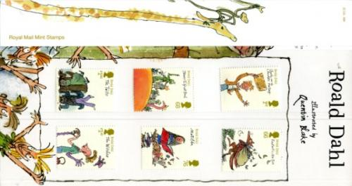 2012 Roald Dahl Pack containing Miniature Sheet