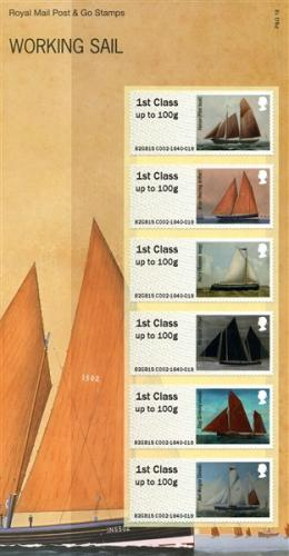 2015 Post & Go Working Sail pack SG: FS117 (P&G 18)