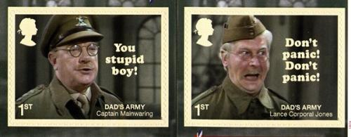 2018 Dads Army 50th Anniversary self adhesive (SG4107-4108)