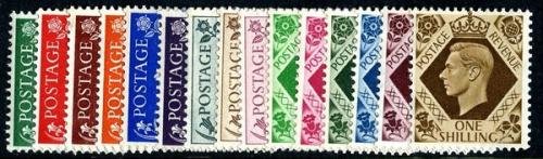 Set of 15 stamps SG462 to SG475