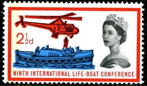 1963 Lifeboat 2½d phos