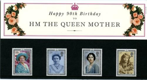 1990 Queen Mother pack