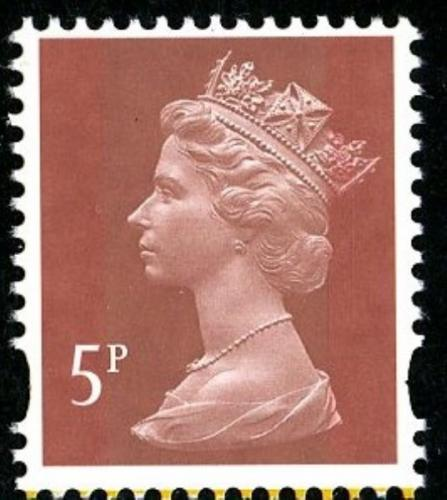 SG Y1765 5p red brown 2 band type 3