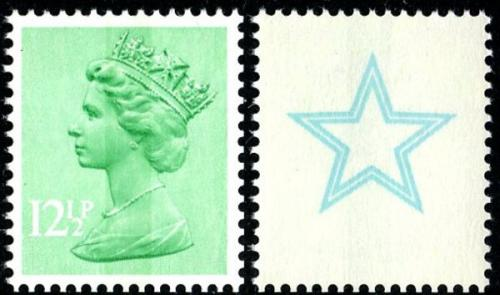 SG X898Eus 12½p single star (used with gum as print dissolves in water)